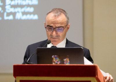 Conferenza Senato Battistelli al microfono solo