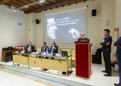Conferenza Senato Battistelli che parla